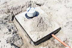 New concrete septic tank Royalty Free Stock Images