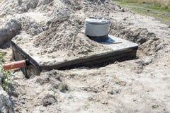 New concrete septic tank Royalty Free Stock Photos