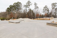New Concrete Skate Park Royalty Free Stock Image