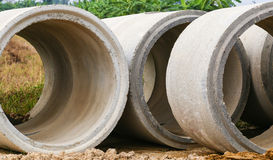 New concrete tanks for construction Royalty Free Stock Photography