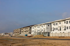 The new condo development construction. Building Apartment Royalty Free Stock Photo