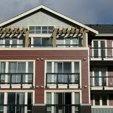 New Condo Exterior Siding Stock Photos