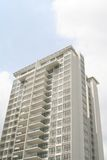 New Condominium High Rise. A brand new and totally vacant condo stock photos