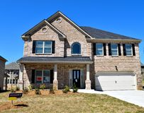 New constructed home for sale royalty free stock photos