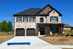New constructed home for sale royalty free stock image