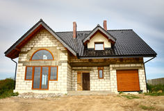 A new constructed house Royalty Free Stock Photos