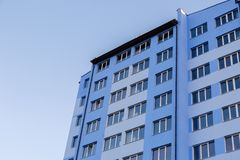 New-constructed multi-storey residential building. Stock Image