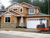 New construction. A new house before completion Royalty Free Stock Images