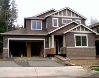 New construction. A new house before completion Stock Photo