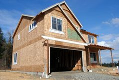New Construction. A new home under construction Royalty Free Stock Image