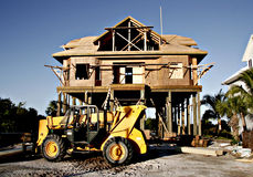 New Construction 2. New luxury home under construction on the coast royalty free stock photos