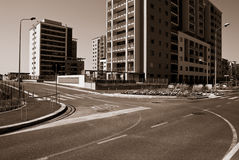 New construction. Growing area on the outskirts of Milan, Italy Royalty Free Stock Photo