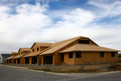 New Construction. A series of new homes being built Royalty Free Stock Images