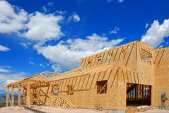 New construction. New home construction in Eagle Ranch, Colorado Royalty Free Stock Photo