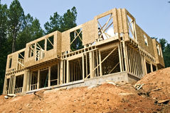 New Construction/ Basement Royalty Free Stock Image