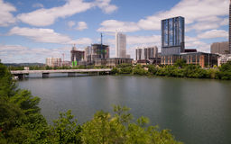 New Construction Building Highrise Office Towers Austin Texas Royalty Free Stock Images