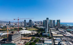 New construction of condos in Waikiki Stock Photo