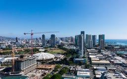 New construction of condos in Waikiki Stock Photo