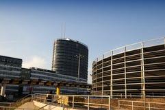 New construction in Düsseldorf Stock Photo