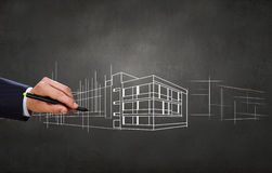 New construction development project Royalty Free Stock Image