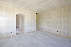 New Construction of Drywall Interior Royalty Free Stock Photo