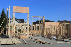 New Construction Framing And Foundation Royalty Free Stock Images