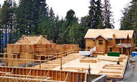 New Construction Framing and Foundation Stock Images