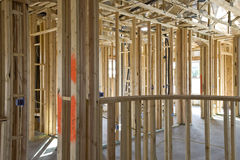 New Construction of Framing Interior Stock Photo