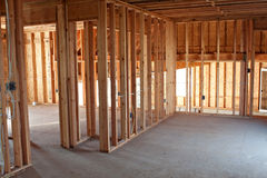 New Construction Framing Interior Royalty Free Stock Photography