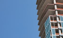 New Construction of a high rise building. royalty free stock image
