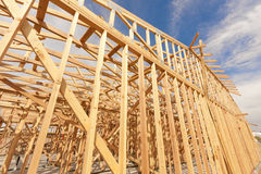 New Construction Home Framing Abstract royalty free stock photography