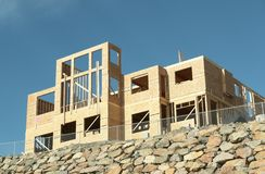 New Construction Home House stock photography