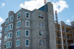 New construction of homes stock image