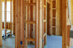 New construction of a house Framed New Construction Royalty Free Stock Photos