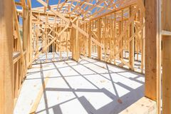 New Construction House Framing stock photos
