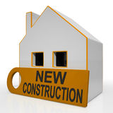 New Construction House Means Brand New Home Stock Image