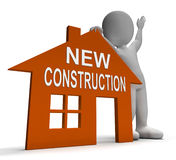 New Construction House Shows Newly Built Property Royalty Free Stock Photo