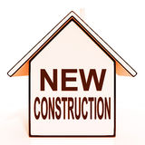 New Construction House Shows Recent Building Or Development Stock Photos