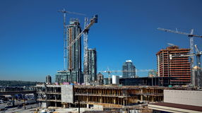 New Construction In Burnaby City Stock Images