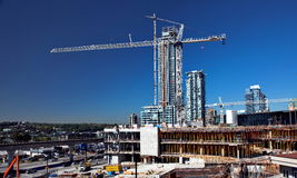 New Construction In Burnaby City Stock Photos
