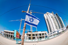 New construction in Israel. Beer-Sheva, the central street name Ruger Royalty Free Stock Photography