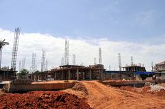 New construction in Juba stock image