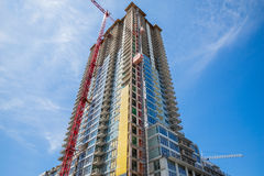 New construction luxury condominium Stock Images