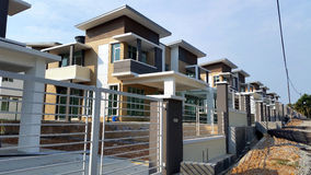 New Construction Modern House In Row Royalty Free Stock Images