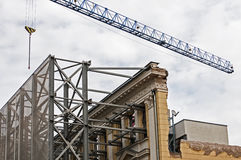 New construction with old facade Royalty Free Stock Images