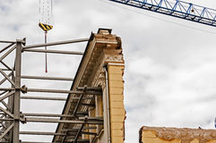 New construction with old facade Stock Photography