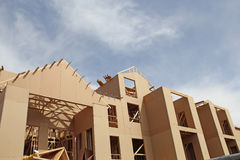 New Construction Open Frame Building Cardboard look Stock Photography