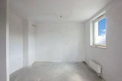 New construction, room interior Stock Image
