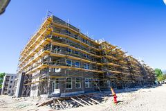 New Construction of Senior Apartments stock images