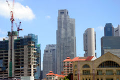 New construction in Singapore Stock Photos